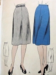 1940s  SLIM SKIRT PATTERN 2 STYLES EASY TO MAKE VOGUE 9653