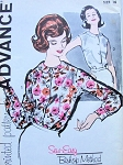 1950s  ADVANCE 9908 BLOUSE PATTERN PRETTY LONG or SLEEVES STYLES