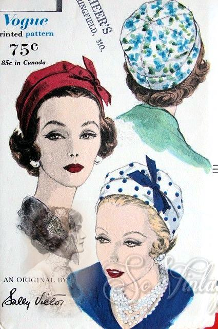 Stylish Sally Victor Hat Pattern Dart Fitted Crown Soft