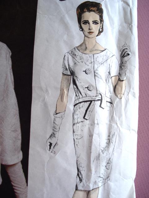 1960s Balmain Slim Dress And Jacket Pattern Vogue Paris Original