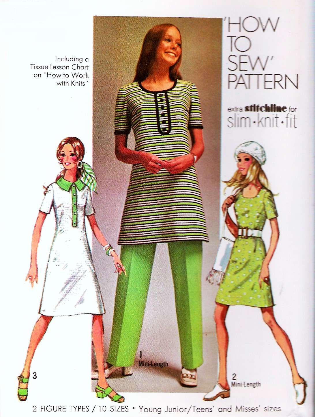 RETRO 70s Dress and Pants Pattern SIMPLICITY 9285 HOW TO SEW Mini or ...