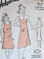 1930s Girls Vintage CLASSIC Slip in Two Styles Advance 778 Childrens Sewing Pattern Vintage Lingerie