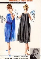 1950s GLAMOROUS Luis Estevez Original Design Evening Dress Pattern ADVANCE 8811 Gorgeous Slim cocktail Dress With Flowing Back Panel Bust 34 Vintage Sewing Pattern