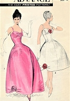 1950s GORGEOUS Evening Gown Cocktail Party Dress Pattern ADVANCE 8927 Stunning Figure Flattering Design Bust 34 Vintage Sewing Pattern FACTORY FOLDED