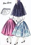 1950s BEAUTIFUL Full Circle Skirt Pattern ADVANCE 6688 Super Easy To Make Only 2 Pieces and Waistband, Waist 24 Vintage Sewing Pattern