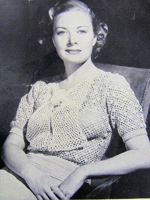 Instant Pdf Pattern 1930s Lace Crocheted Feminine Blouse