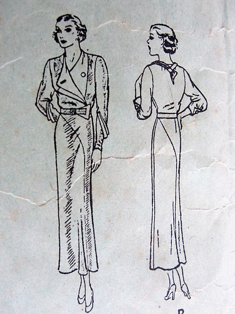 1930s CHIC Art Deco Dress Pattern BUTTERICK 5329 Stunning Couture ...