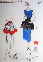 1950s CUTE Quick n Easy Tea Aprons Pattern BUTTERICK 5531 Perky,Practical Decorative Apron, Hostess Apron, Kitchen Apron Vintage Sewing Pattern