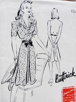 1940s Swing Era Dress Pattern BUTTERICK 9384 Lovely Draped Neckline Day or Party Dress Bust 34 Vintage Forties Sewing Pattern FACTORY FOLDED