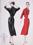 1950s STUNNING Slim Dress Pattern Butterick 7480 Wing Sleeved Stand Up Collar Day or After 5 Dress  Bust 30 Vintage Sewing Pattern FACTORY FOLDED