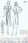 Lovely 1930s Dress Pattern Butterick 7745 BEGINNERS Vintage Sewing Pattern Very Pretty Design Bust 33 Only 4 Pattern pieces VERY Easy To Sew