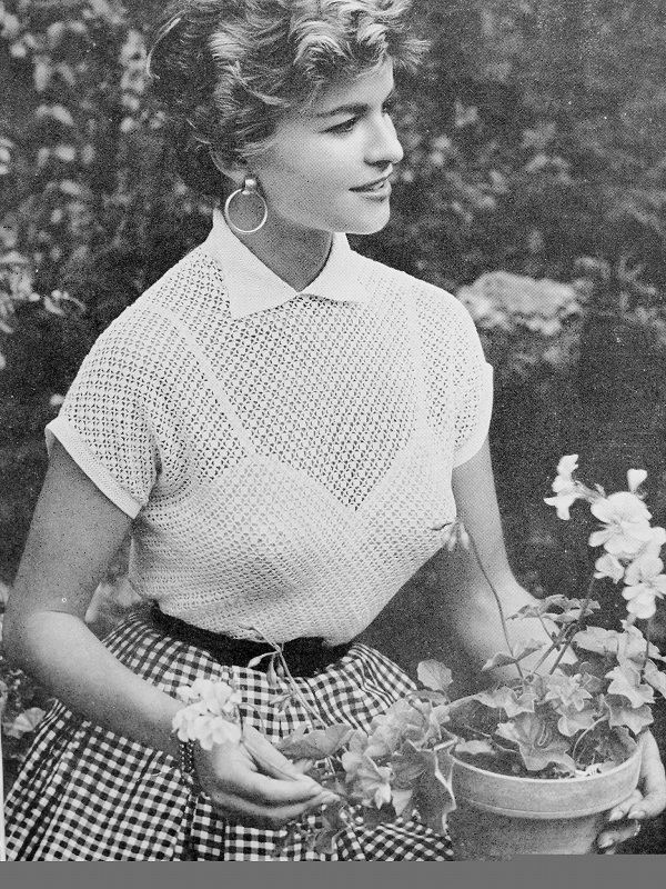 Instant Pdf Crochet Pattern 1950s Vintage Ladies Very