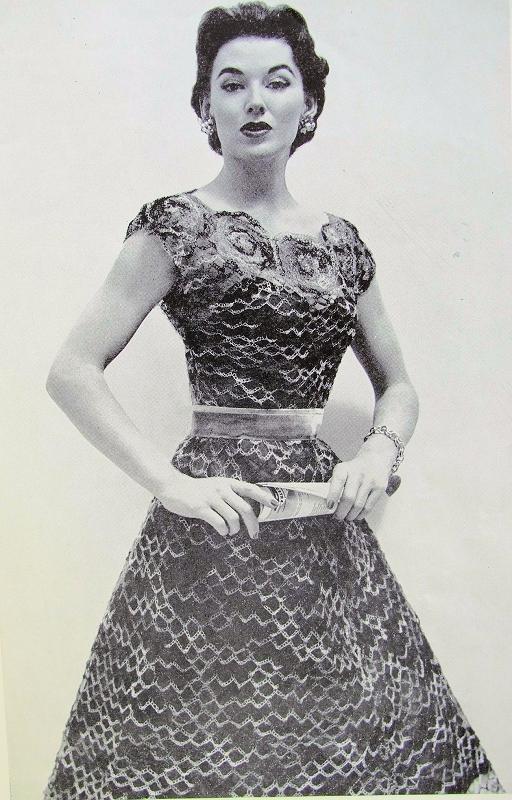 Instant Pdf Pattern 1950s Vintage Crochet Pattern Beautiful Lacy