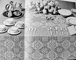 INSTANT DOWNLOAD PDF Elegant Heirloom Filet Lace Crocheted Leicester Square Tablecloth Vintage Crochet Pattern Exceptionally Beautiful For Buffet Table