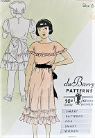 Vintage 1930s LOVELY Ruffled Girls Dress with Puffed Sleeves or Wide Collar Du Barry 1106 Sewing Pattern Chest 26