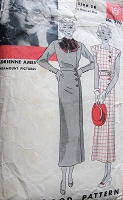 1930s ART DECO Slim Dress Pattern HOLLYWOOD 770 Classy Side Closing Dress Features Adrienne Ames Paramount Pictures Starlet Bust 34 Vintage Sewing Pattern