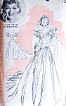 1940s Beautiful Wedding Dress Bridal Gown Pattern Hollywood 672 Featuring Starlet Ellen Drew Bust 30 Vintage Sewing Pattern