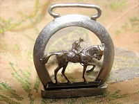 BEAUTIFUL Victorian Detailed Figural Horse Fob Jockey Horse Racing Equestrian Watch Fob Pendant Antique Jewelry