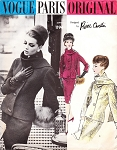 1960s Ultimate Elegant Suit Pattern VOGUE Paris Original 1194 Pierre Cardin Fitted Jacket With Scarf and Slim Pencil Skirt Day Or Evening Vintage Sewing Pattern Bust 32 FACTORY FOLDED + Label