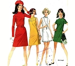 1960s MOD Dress Pattern Six Retro Style Versions Easy To Sew McCalls 9471 Vintage Sewing Pattern Bust 34 UNCUT FACTORY FOLDED