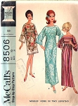 1960s FAB Beach Cover Up or Caftan Robe Hostess Patio Dress Pattern McCALLS 8506 Make It Out Of Beach Towels or Fabric Bust 34 Quick n Easy  Vintage Sewing Pattern UNCUT FACTORY FOLDED