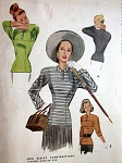 1940s LOVELY Film Noir Style Over Blouse Pattern McCALL 7007 Figure Flattering Design Vintage Sewing Pattern Bust 36