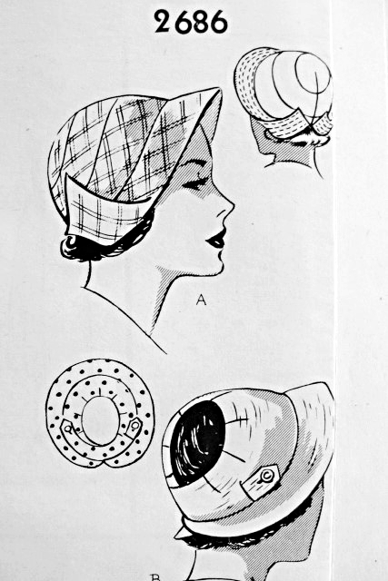 a4ac4757a64 1950s Fabulous Hats Pattern Two 1930s Inspired Styles Cloche or ...