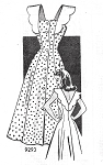 1940s BEAUTIFUL Sun Dress Pattern MARIAN MARTIN 9293 Lovely V Sun Back Ann Todd Style In The Passionate Friends Movie Bust  35 Vintage Sewing Pattern FACTORY FOLDED