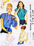 1940s SWING ERA Wrap Around Blouse and Hand Bag Purse Pattern McCALL 1283 Gorgeous Sequins or Rick Rack Trimmed Evening Blouse Bust 38 Vintage Sewing Pattern UNCUT + Transfers