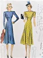 Vintage 1930s ALLURING Figure Hugging Dress McCall 3073 Sewing Pattern Bust 36