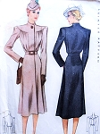 Late 30s Stunning Coat Pattern McCALL 3118 Beautiful Design Bust 34 Vintage Sewing Pattern