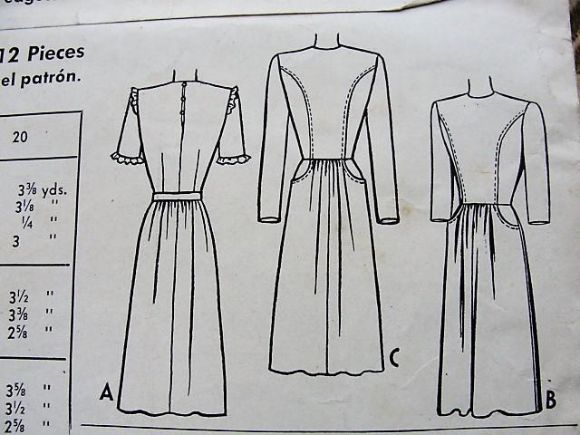 1940s CUTE Nancy Drew Style WW II Dress Pattern McCALL 5204 Two ...