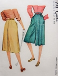 1940s SPORTY Culotte Skirt Pattern McCALLl 6768 Forties Culottes Divided Split Sports Skirt Waist 28 Vintage Sewing Pattern