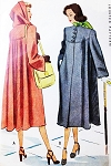 1940s LOVELY Film Noir Style Swing Back Coat Detachable Hood Pattern McCALL 6993 Beautiful Style Bust 36 Vintage Sewing Pattern