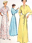1950s GLAMOROUS Hostess Gown Robe Pattern McCALL 7901 Two Figure Flattering Styles Flutter Short Sleeves or Long Dolman Elegant Lounging Gown Bathrobe Bust 36 Vintage Sewing Pattern FACTORY FOLDED