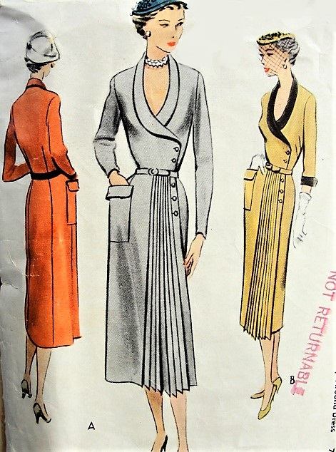 1950s SOPHISTICATED Wrap Dress with Pocket and Belt McCall 8149 ...