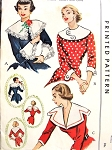 1950 DRAMATIC Large Collars and Cuffs Pattern McCALL 1552 Three Beautiful Styles One Size Vintage Sewing Pattern UNCUT