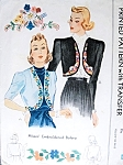 1930s Lovely Embroidered Boleros Jackets Pattern McCall 584 Vintage Sewing Pattern Includes Embroidery Transfer Size Small