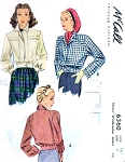 1940s FABULOUS Windbreaker Bomber Style Jacket Pattern McCALL 6360 Two Snappy Styles Bust 32 Vintage Sewing Pattern