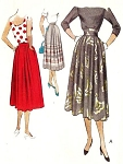 1950 LOVELY Skirt Pattern McCall 8296 Shaped and Raised Waistband or Regular Softly Pleated Skirt Waist 24 Vintage Sewing Pattern