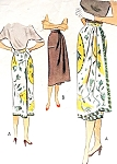 1950s STRIKING One Piece Wrap Around Skirt Pattern McCALL 8391 Figure Flattering Side Wrap Easy To Sew Day or Evening Skirts Waist 28 Vintage Sewing Pattern