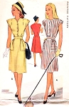 1940s Cute Dress Pattern McCALL 6364 Post WW II Dress 2 Neckline Styles Bust 30 Vintage Sewing Pattern