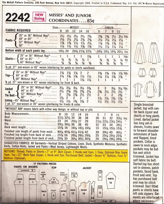 MOD 1960s Separates Hot Pants Flared Pants Safari Jacket and Pull ...