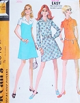 1970s RETRO Dress Pattern McCalls 2345 Three Style Versions Vintage Sewing Pattern