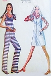 1970s FAB Slim Legged JUMPSUIT and Jumper Dress Pattern McCALLS 2356  Bust  30 or 31 Vintage Sewing Pattern FACTORY FOLDED