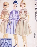 1960s Shirtdress Pattern McCALLS 2436 Lovely Soft Dress For Smocking Bust 32 Vintage Sewing Pattern