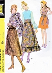 1970s ROMANTIC Bohemian Style Separates Pattern McCALLS 2670 Mini or Midi Skirt, Lovely Blouse, Scarf Sash Bust 38 Vintage Sewing Pattern UNCUT