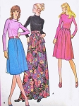 RETRO 70s Day or MAXI Dress Pattern McCalls 2946 Regular or Evening Maxi Lengths UNCUT Vintage Sewing Pattern Several Sizes Available