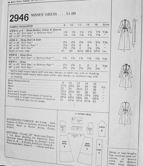 RETRO 70s Day or MAXI Dress Pattern McCalls 2946 Regular or Evening ...