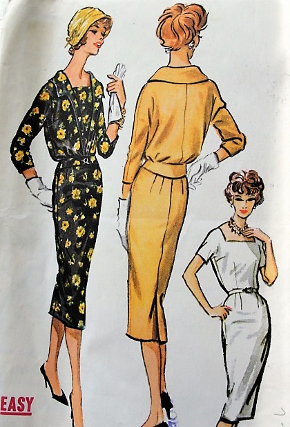 1950s CHIC Sheath Dress and Jacket Pattern McCALLS 4636 Easy To Sew Day or  After 5 Dress Pattern Bust 36 Vintage Sewing Pattern